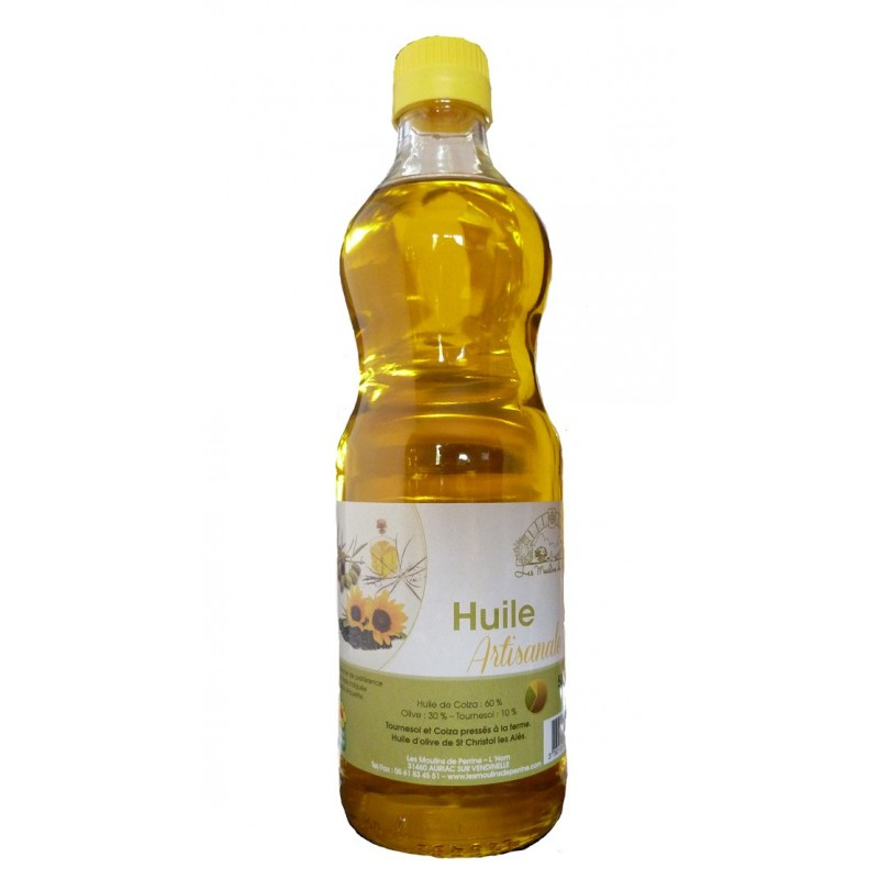 Huile artisanale (Colza/Olive/Tounesol) 50 cl