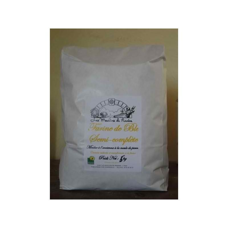 Farine de blé semi-complète en sac de 5 Kg