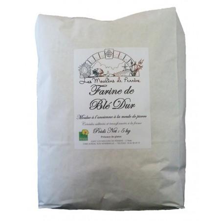 Farine de blé dur en sac de 5 kg